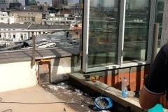 Stolarka aluminiowa z widokiem na Centrum Warszawy